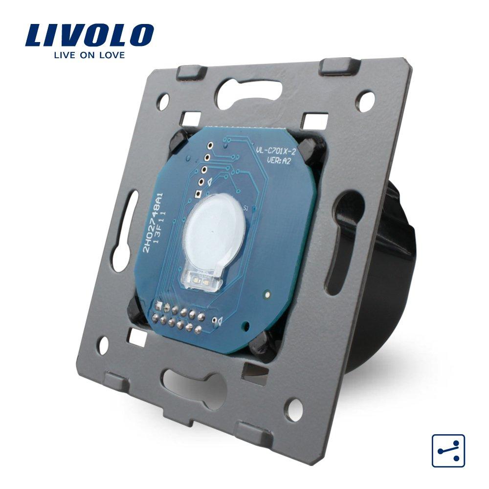 Modul intrerupator simplu cap scara / cap cruce cu touch LIVOLO