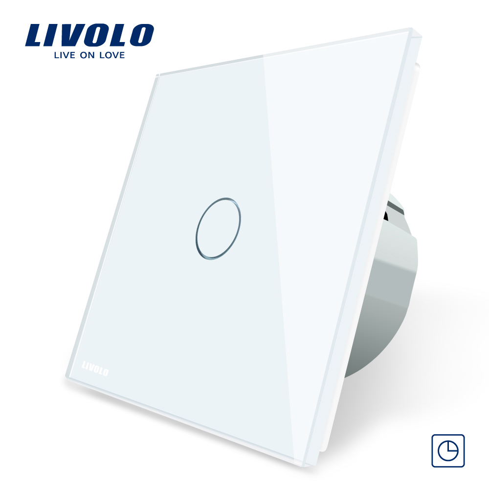 Intrerupator simplu cu timer si touch Livolo din sticla imagine case-smart.ro 2021