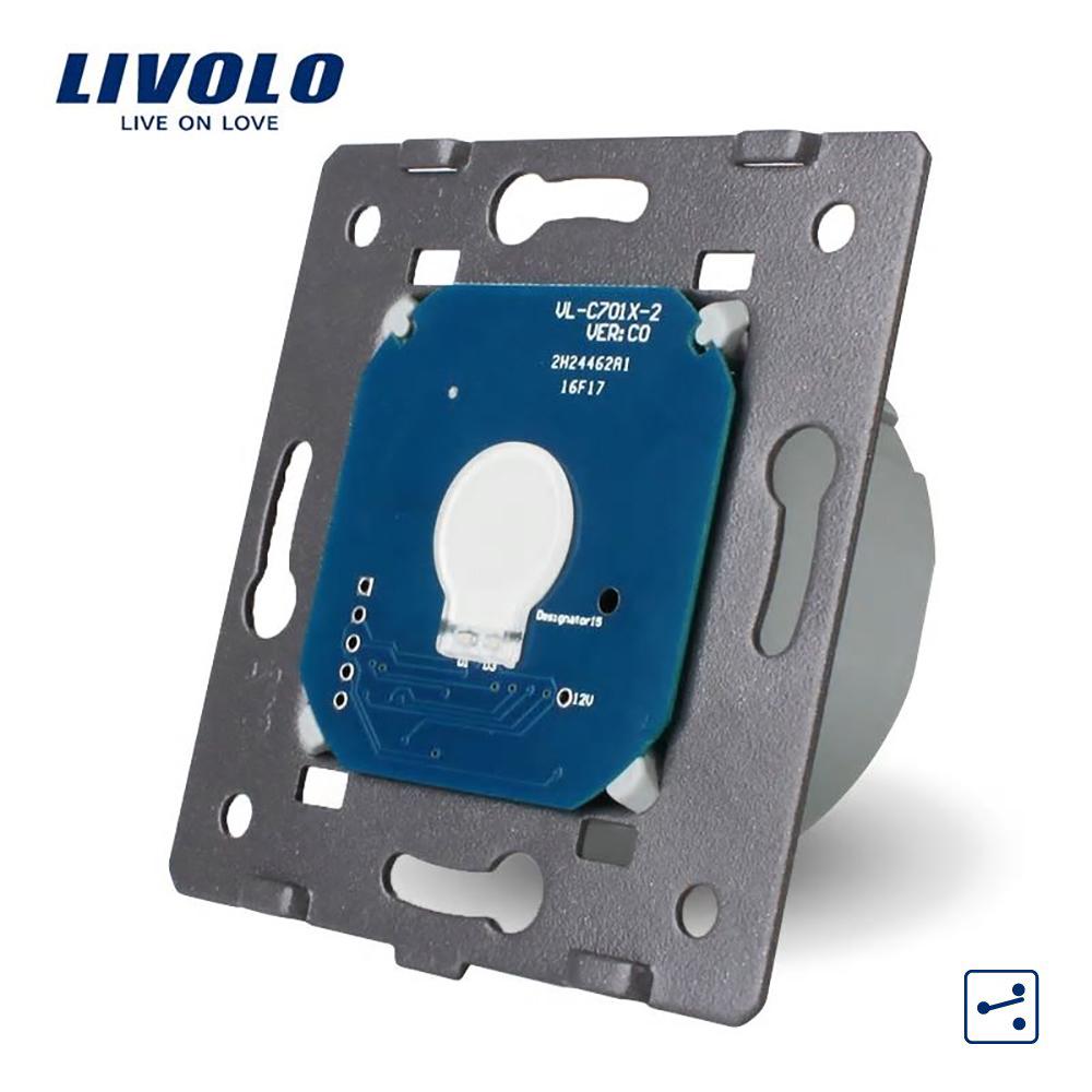 Modul intrerupator simplu cap scara / cap cruce cu touch LIVOLO imagine case-smart.ro 2021
