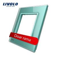 Rama priza simpla Livolo din sticla culoare verde