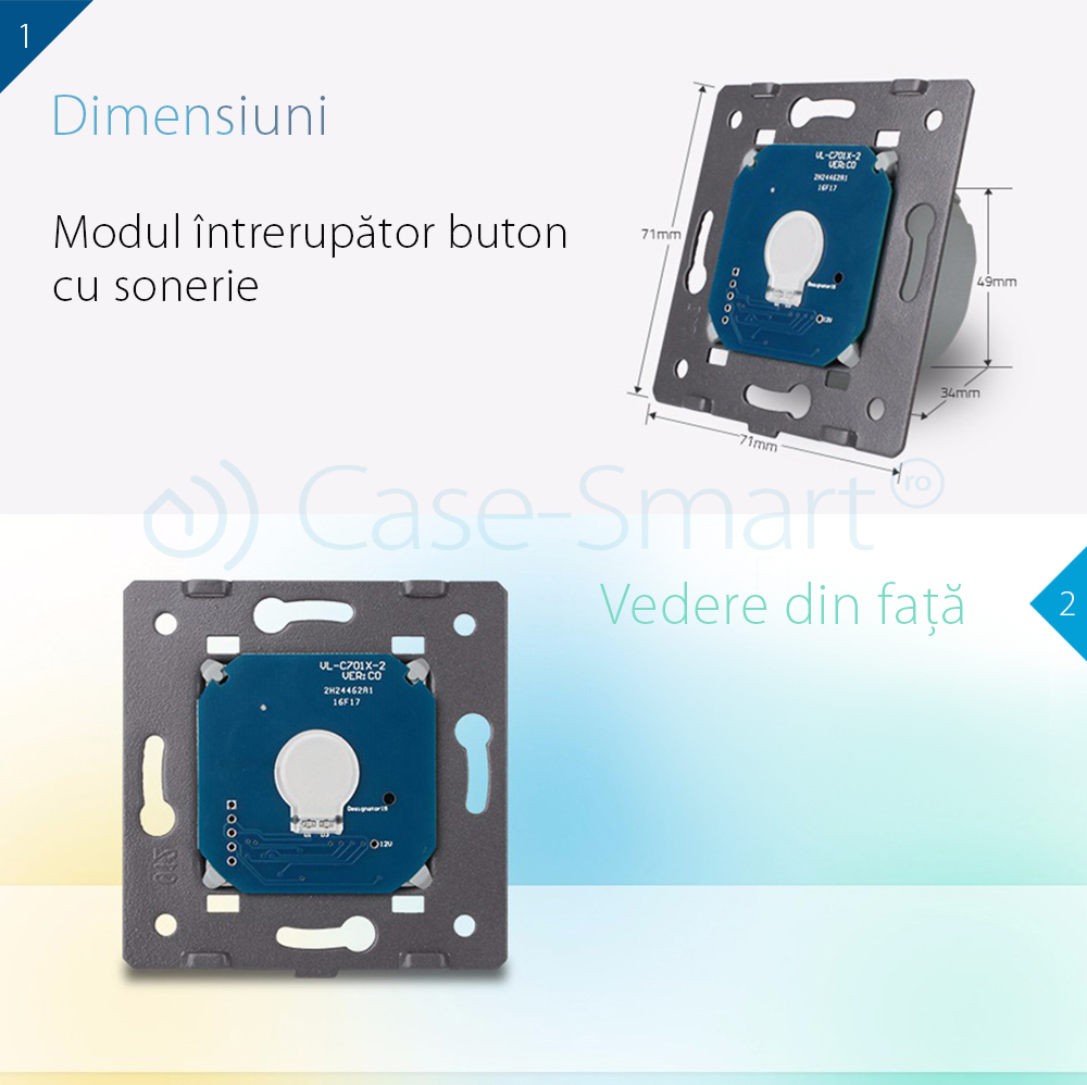 Modul intrerupator buton sonerie cu touch LIVOLO