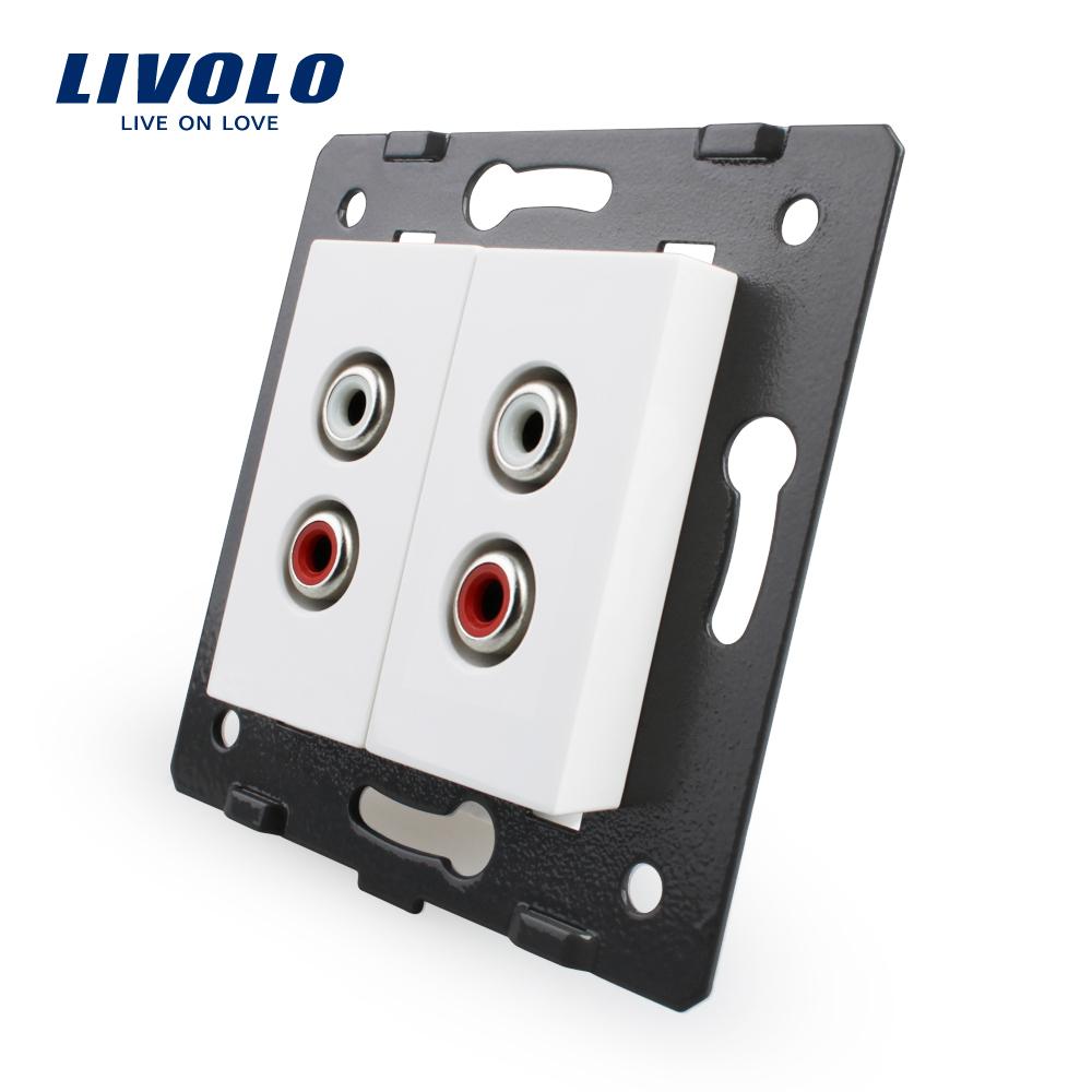 Priza dubla audio Livolo imagine case-smart.ro 2021