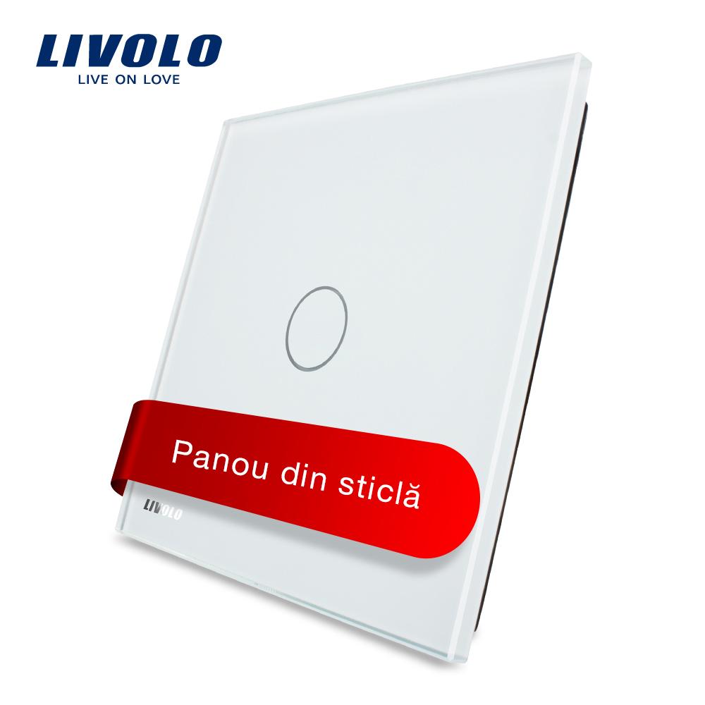 Panou intrerupator cu touch Livolo din sticla imagine case-smart.ro 2021