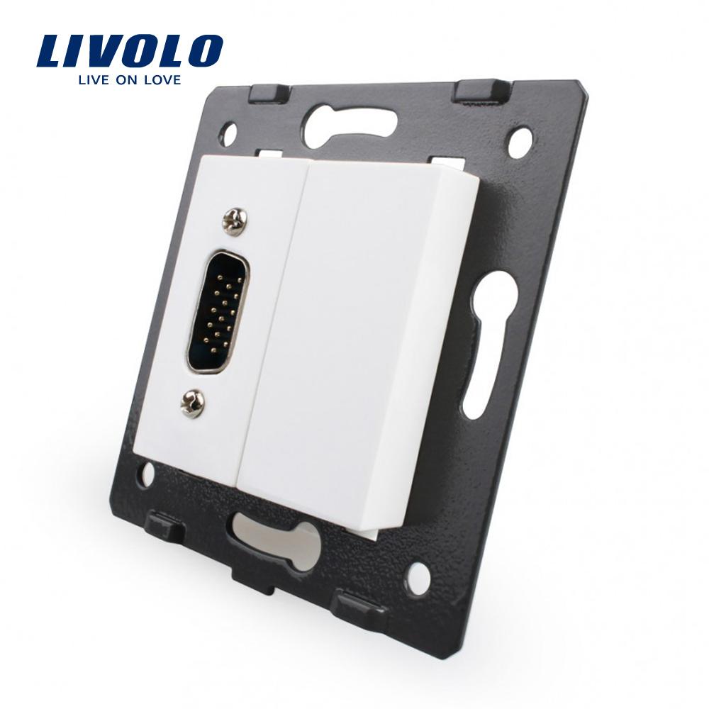 Priza cu mufa VGA tata 15 pini Livolo imagine case-smart.ro 2021