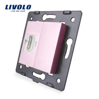 Priza HDMI Livolo culoare roz