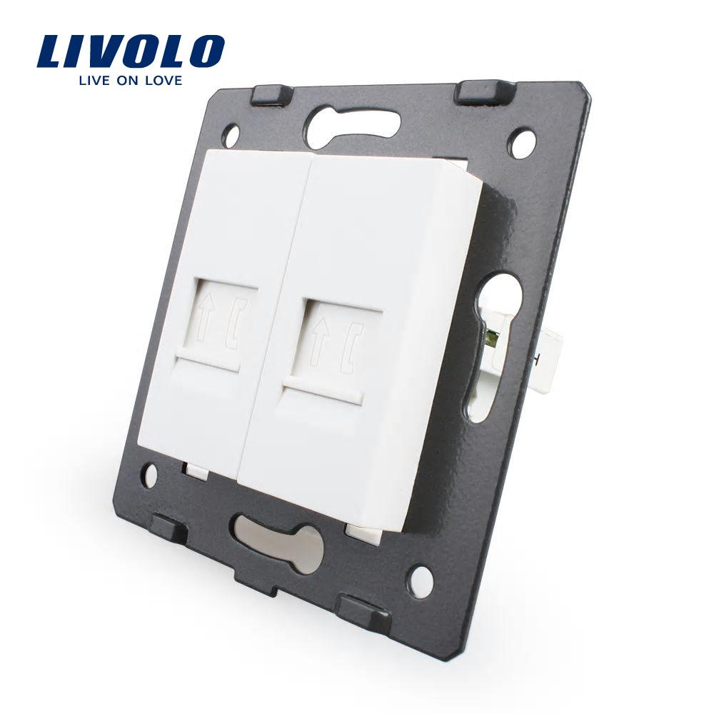 Priza dubla telefon Livolo imagine case-smart.ro 2021