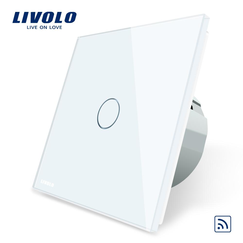 Intrerupator simplu wireless cu touch Livolo din sticla imagine case-smart.ro 2021