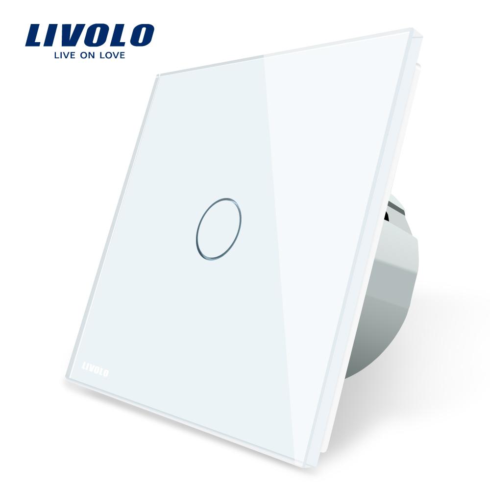 Intrerupator simplu cu touch Livolo din sticla imagine case-smart.ro 2021