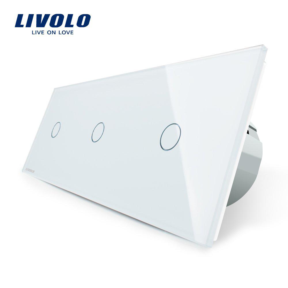 Intrerupator triplu cu touch Livolo din sticla imagine case-smart.ro 2021