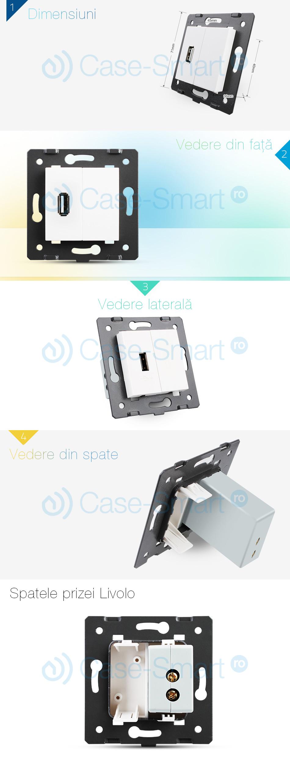 Priza USB Livolo