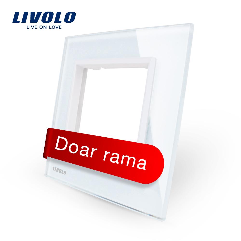 Rama priza simpla Livolo din sticla imagine case-smart.ro 2021