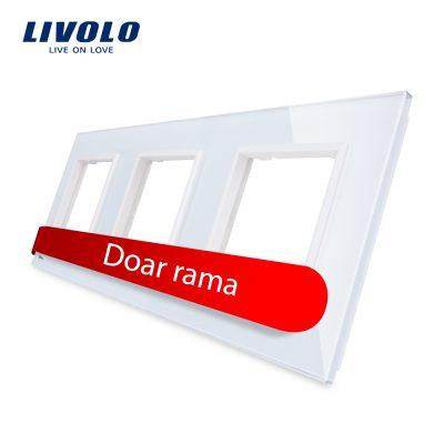 Rama priza tripla Livolo din sticla