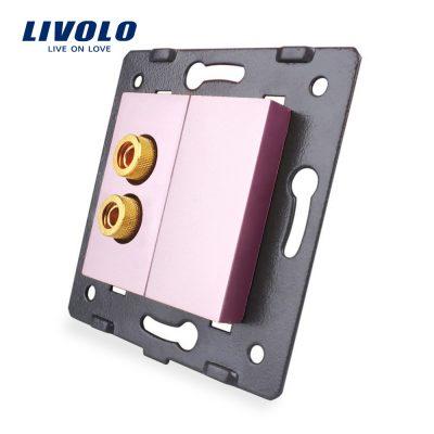 Priza cu mufa pentru redare sunet Livolo culoare roz