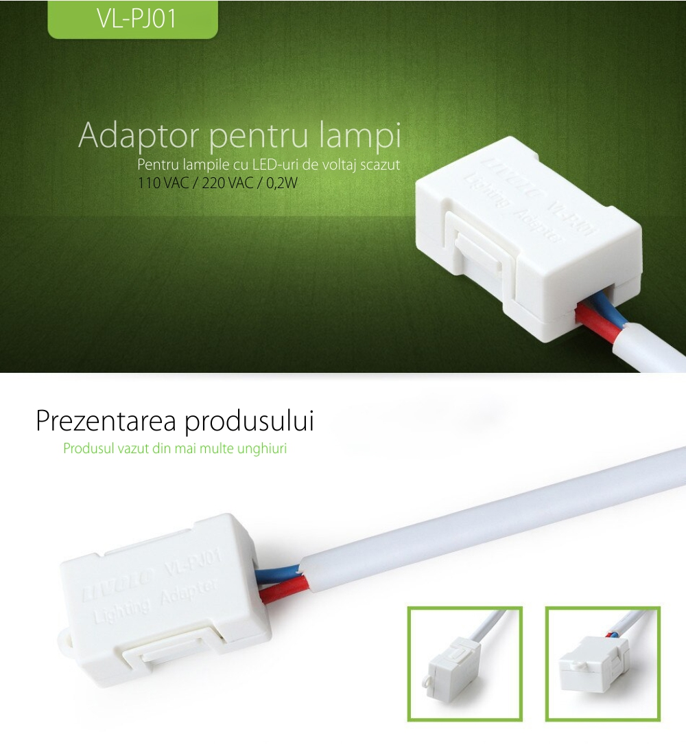 Adaptor anti-licarire bec cu LED <15W VL-PJ01