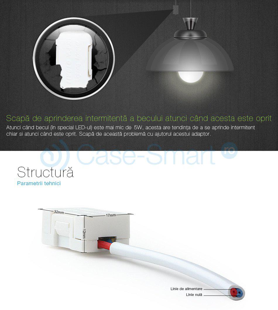 Adaptor anti-licarire bec cu LED <5W VL-PJ01
