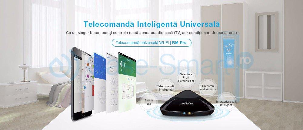 Telecomanda universala Hub BroadLink RM PRO Plus , model 2018