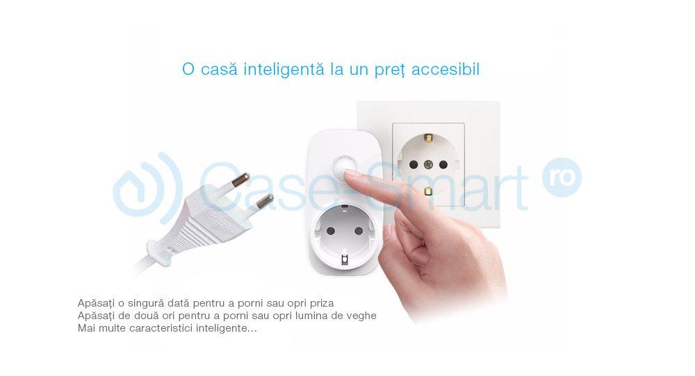 Priza inteligenta programabila BroadLink SP3-S Wi-Fi cu monitor energie – model 2018, Control de pe telefonul mobil