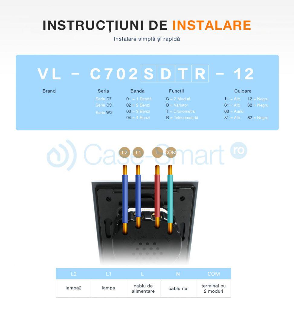 instructiuni de instalare intrerupator Livolo
