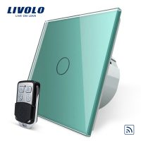 Intrerupator LIVOLO simplu wireless cu touch si telecomanda inclusa culoare verde