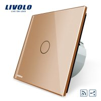 Intrerupator cap scara wireless cu touch Livolo din sticla