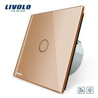 Intrerupator wireless cu variator cu touch Livolo din sticla