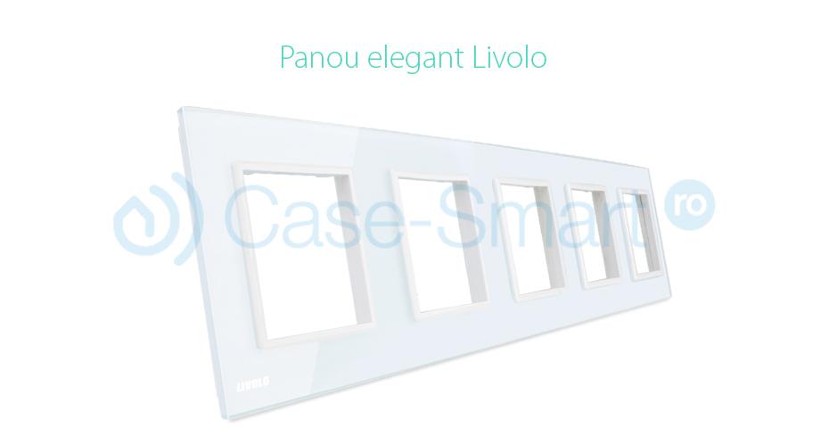 Rama cvintuplu din sticla Livolo