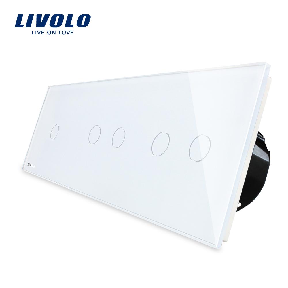 Intrerupator cu touch simplu+dublu+dublu LIVOLO din sticla imagine case-smart.ro 2021