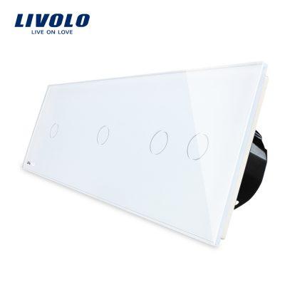 Intrerupator cu touch simplu+simplu+dublu LIVOLO din sticla