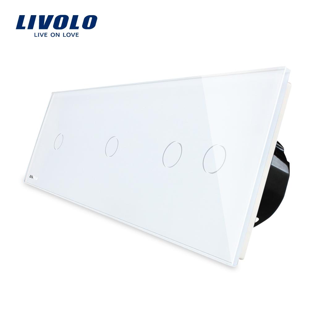 Intrerupator cu touch simplu+simplu+dublu LIVOLO din sticla imagine case-smart.ro 2021