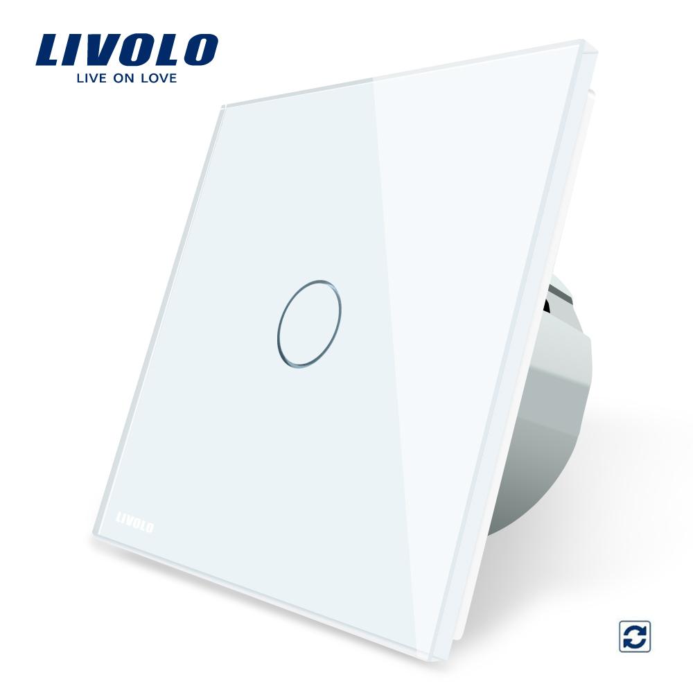 Intrerupator cu revenire Livolo cu touch din sticla imagine case-smart.ro 2021