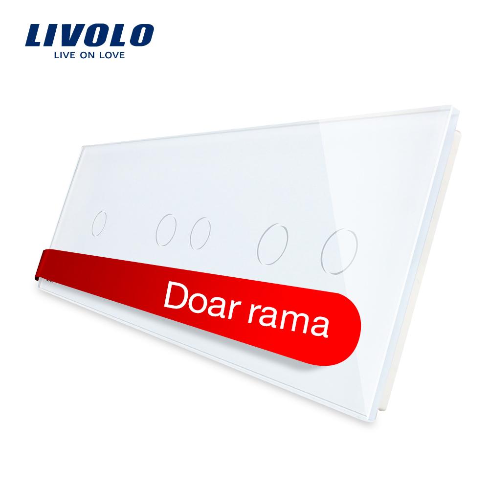 Panou intrerupator simplu+dublu+dublu cu touch LIVOLO din sticla imagine case-smart.ro 2021