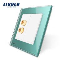 Priza redare sunet LIVOLO cu rama din sticla culoare verde