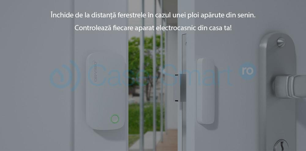 Kit sistem de securitate Orvibo 5 in 1, Mini Hub protocol ZigBee, Senzori Usa, PIR, Camera Video