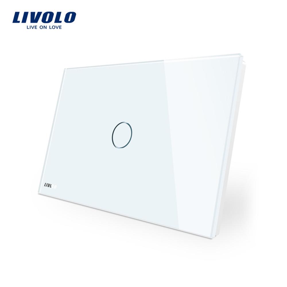 Intrerupator simplu cu touch Livolo din sticla – standard italian imagine case-smart.ro 2021
