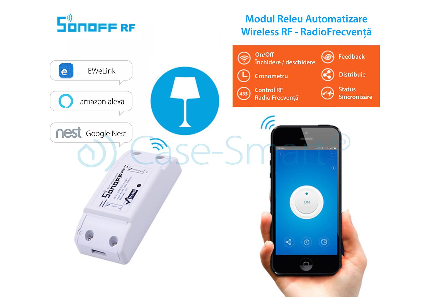 Releu control Wi-Fi si radiofrecventa 433 Mhz Sonoff RF