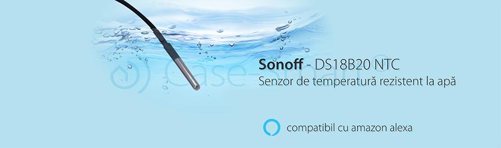 Senzor de temperatura rezistent la apa Sonoff