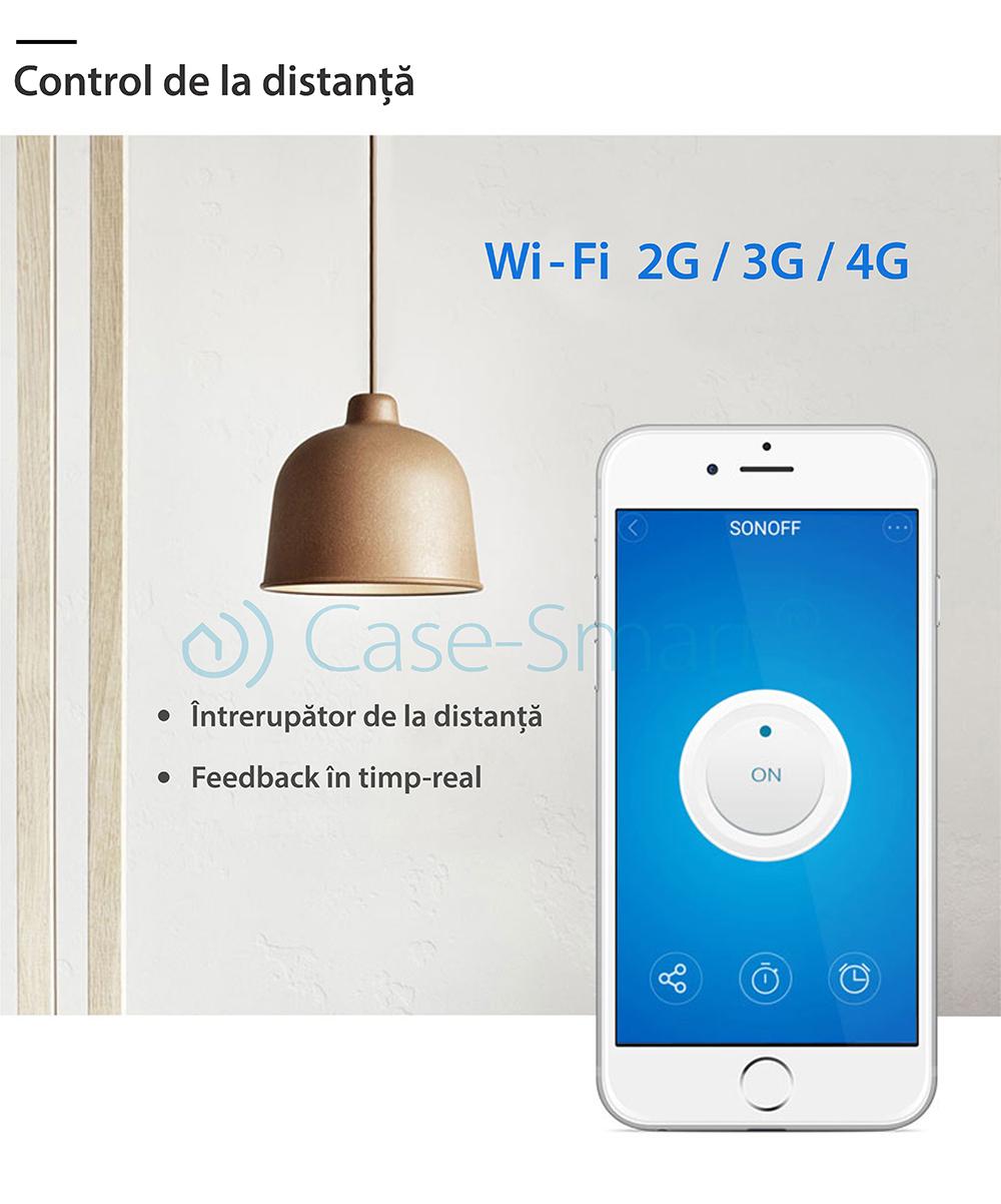 Dulie inteligenta Wi-Fi si RF E27 Sonoff