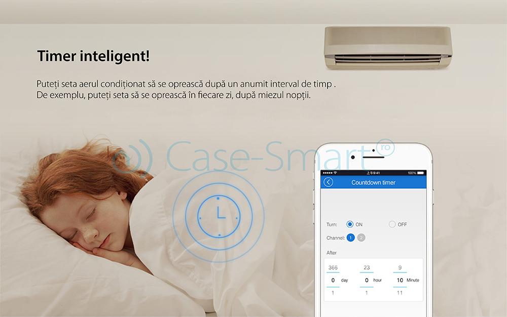 Releu Wi-Fi monitorizare consum electric Sonoff POW