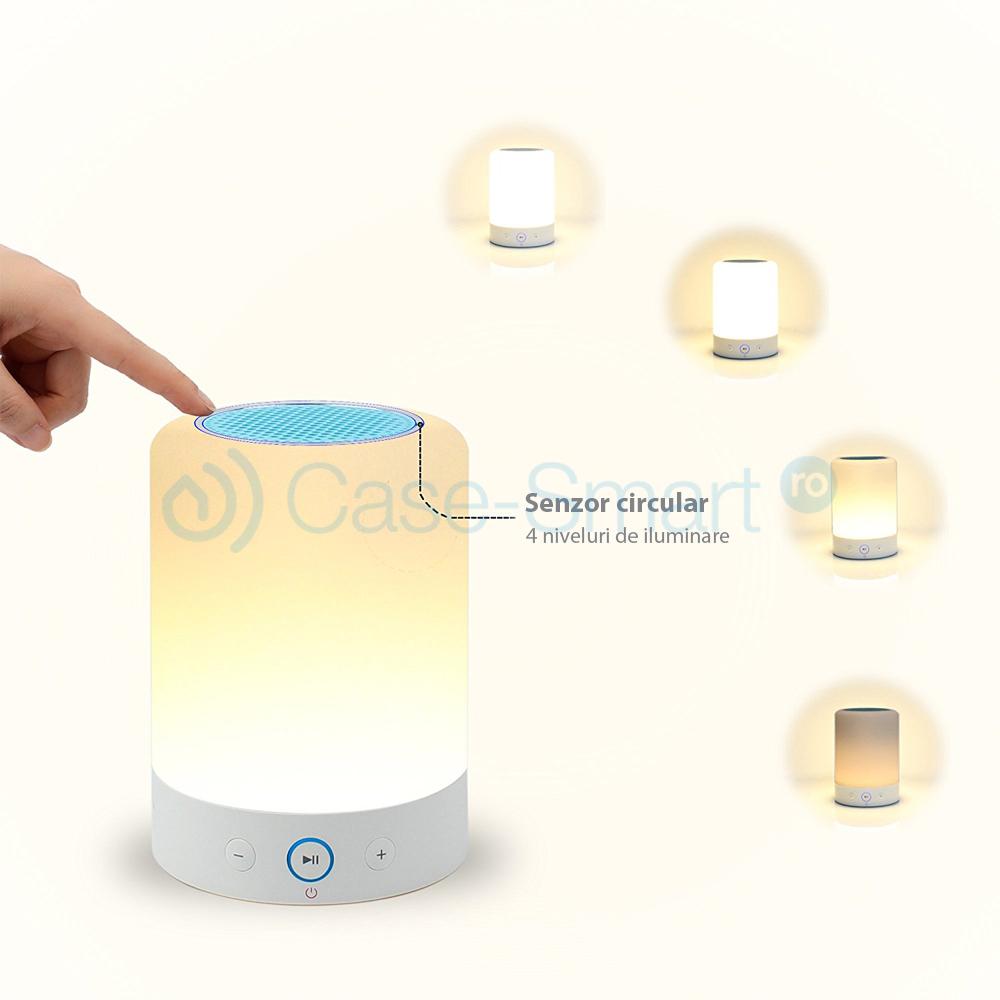 Boxa si lampa inteligenta, portabila cu touch, bluetooth 4.0, RS-WBSL-L7