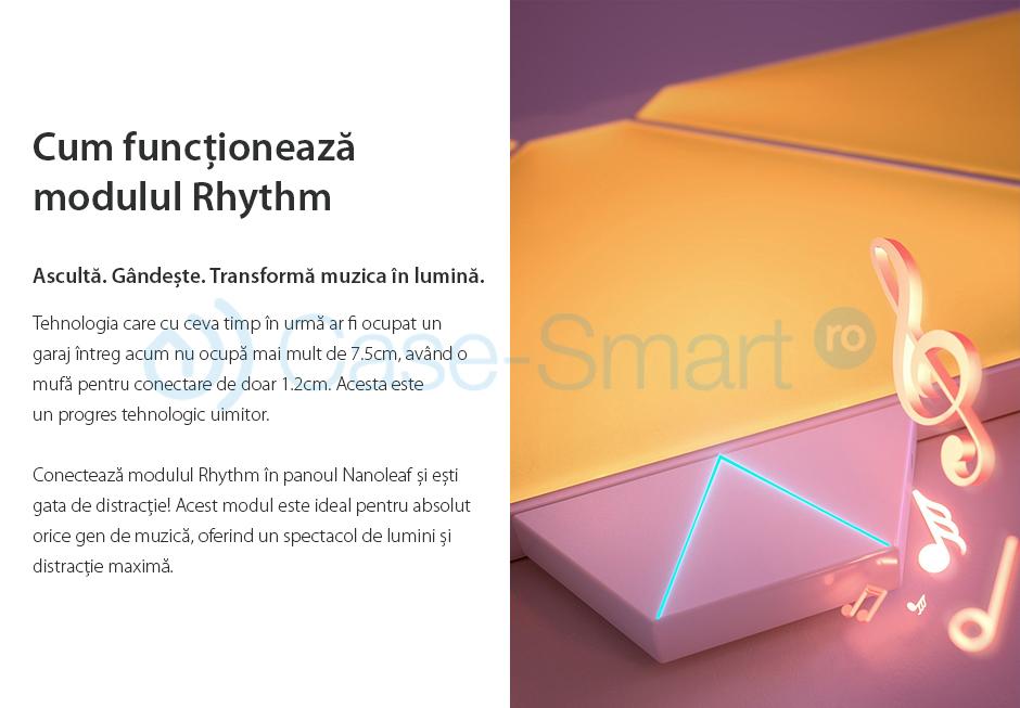Kit Panouri luminoase inteligente Nanoleaf Aurora cu senzor muzica inclus