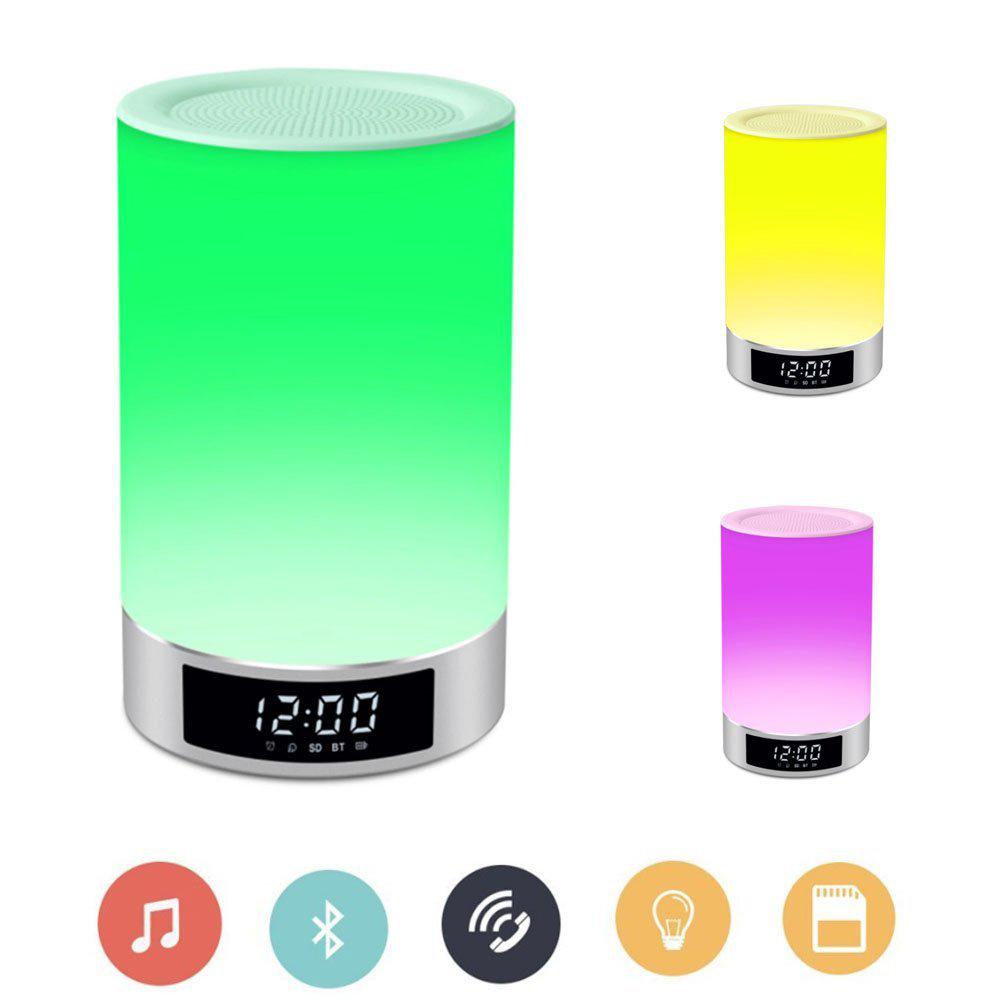 Boxa inteligenta portabila cu touch, bluetooth, wireless, lampa LED RGB