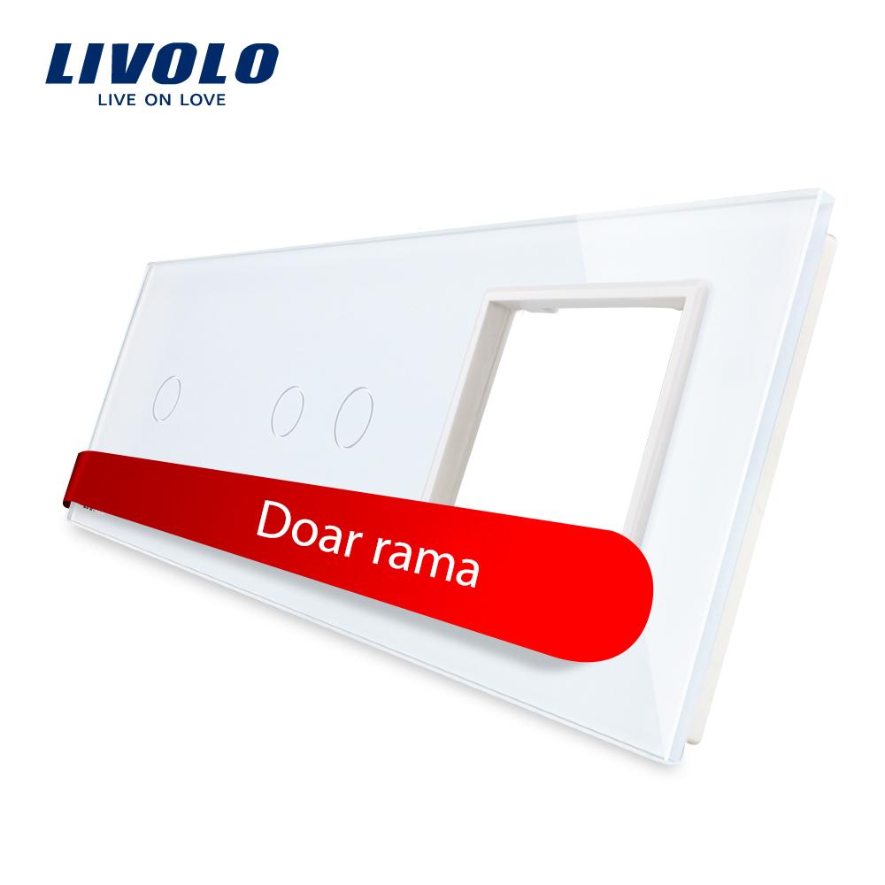 Panou intrerupator simplu+dublu+ priza Livolo din sticla imagine case-smart.ro 2021