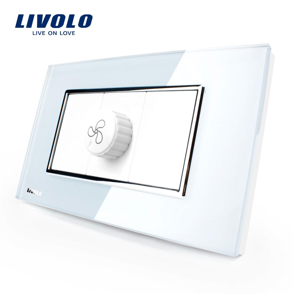 Intrerupator cu variator pentru ventilator Livolo cu rama din sticla – standard italian imagine case-smart.ro 2021
