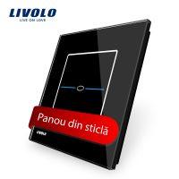 Panou intrerupator cu touch Livolo din sticla – Seria R culoare neagra