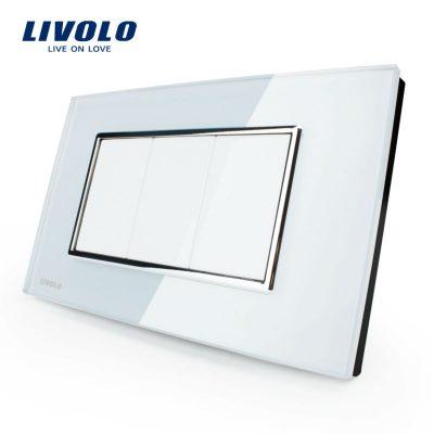 Priza blank – goala Livolo cu rama din sticla – standard italian