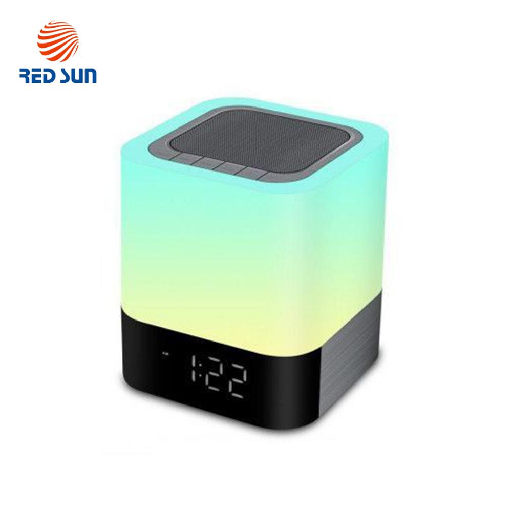 Boxa portabila si lampa Red Sun DY-28 cu touch, ceas alarma si Bluetooth imagine case-smart.ro 2021