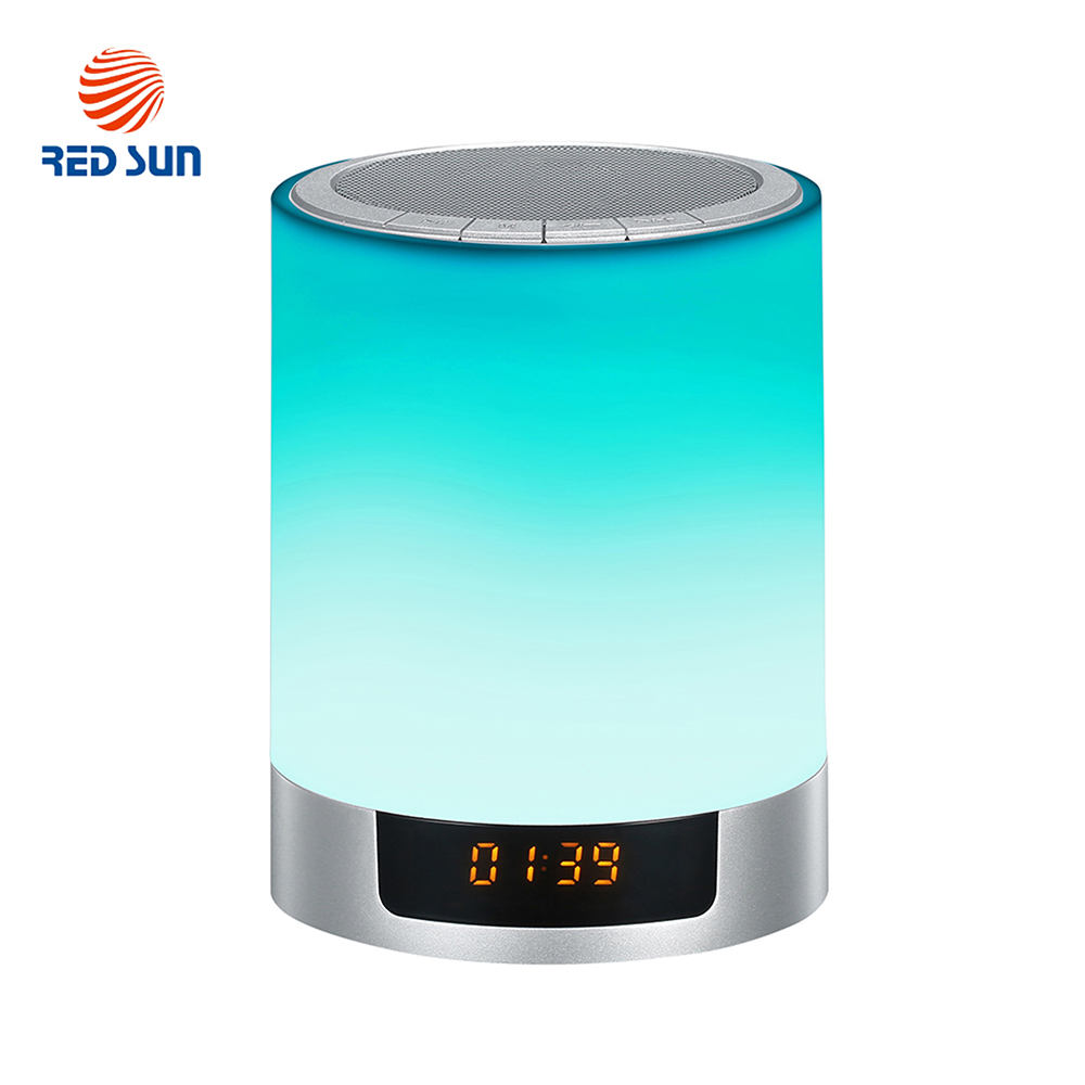 Lampa RGB si boxa portabila inteligenta wi-fi, ceas alarma, Bluetooth 4.0 Red Sun DY-29