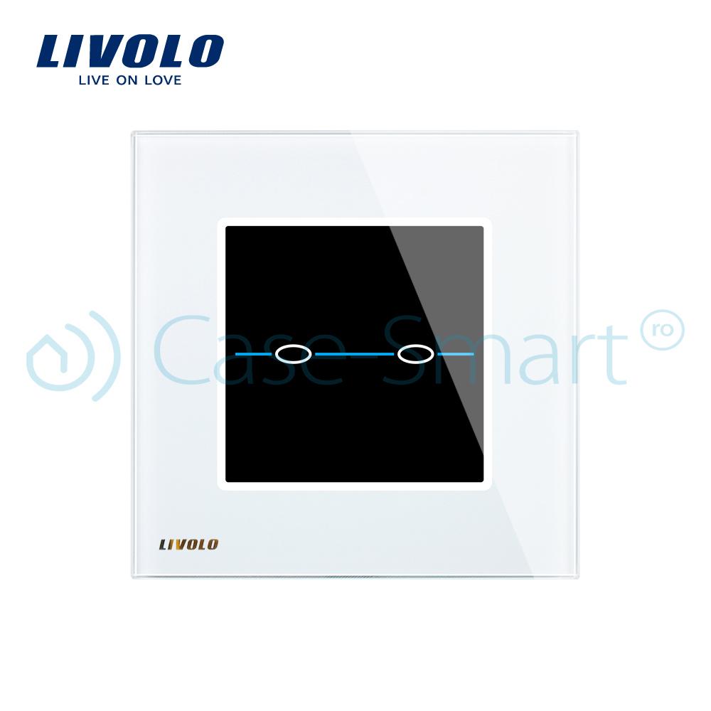 Intrerupator dublu cu touch Livolo din sticla – Seria R