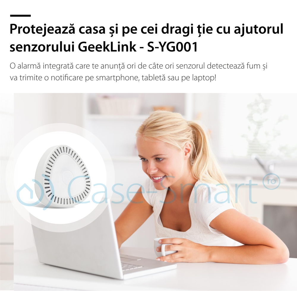 Senzor de fum wireless Geeklink