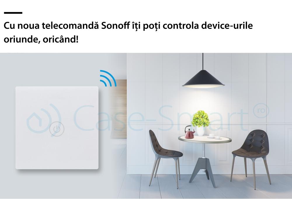 Telecomanda din sticla cu touch Sonoff